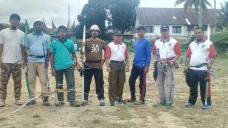 Ketua Perpani bersama anggota setelah melaksankan training di eks. lapangan poliko